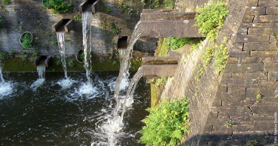 Wasserfälle in Planten un Blomen