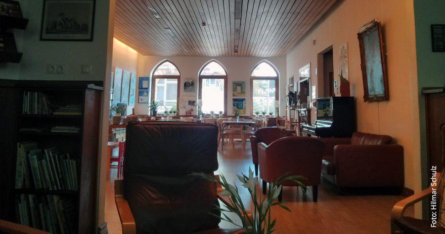 schwedische seemannskirche cafe bibliothek