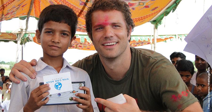 Benjamin Adrion engagiert sich mit Viva con Agua auch in Indien