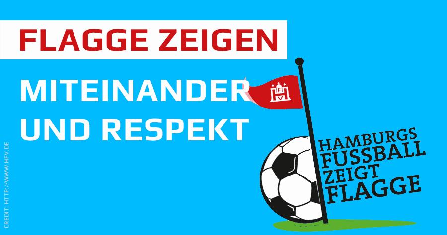 Hamburgs Fußball zeigt Flagge
