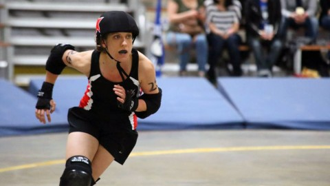Action pur beim Roller Derby