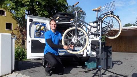 Mobiler Fahrradladen für kaputte Drahtesel