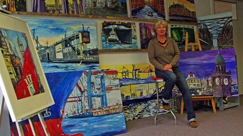 Künstlerin Inken Rohr: Hamburg wie gemalt