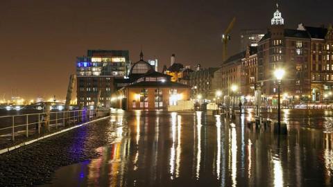 Fotokalender: Fischmarkt Hochwasser