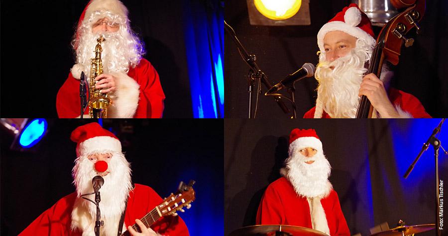 Swinging Santa Clauses