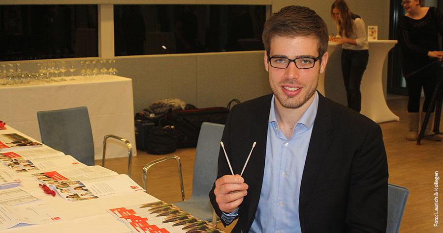Ruder-Olympiasieger Eric Johannesen hat sich typisieren lassen.