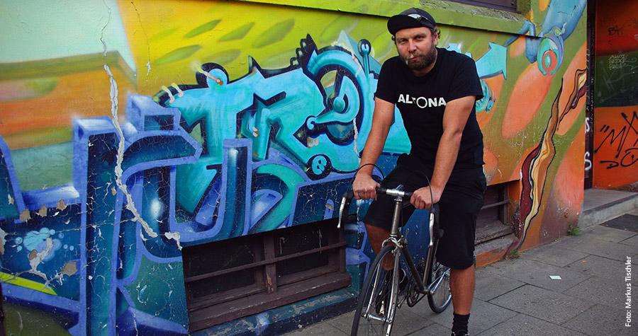 """Lars Amenda liebt lange Radtouren: """"Das ist der Reiz. Die Grenzen im Kopf Stück für Stück zu verschieben."""""""