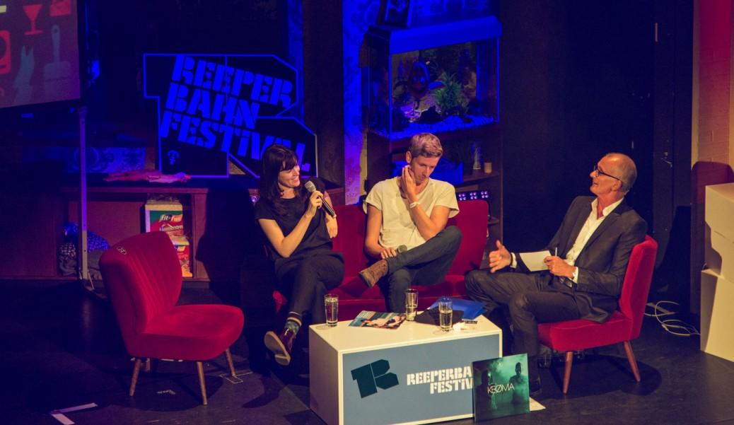 Keøma mit Ray Cokes beim Interview auf dem Reeperbahn Festival 2016