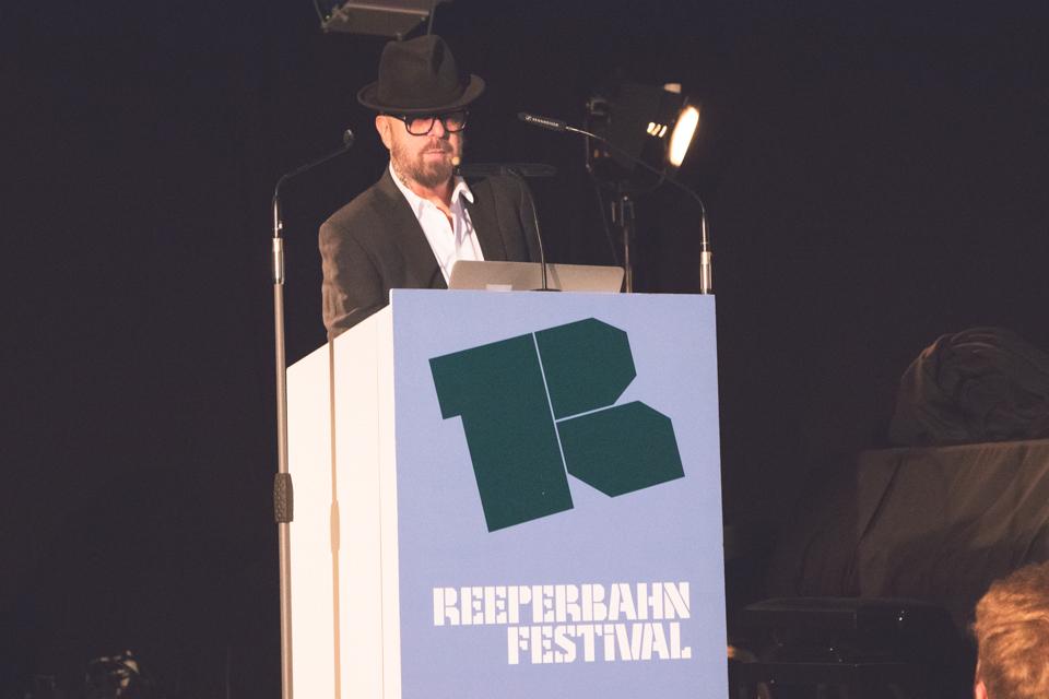 Dave Stewart ist Speaker im Festival Village am Mittwoch.