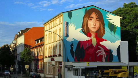 Spanische Street Art in Harburg