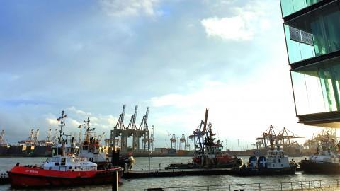 Der Freundeskreis schnackt an der Elbe